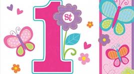 1 års fødselsdag - Pige