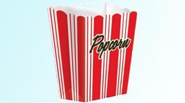 Bægre til popcorn og snacks