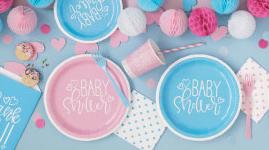 Babyshower engangsservice og borddækning