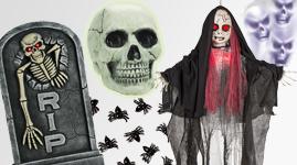 Halloween pynt, dekorationer og div.