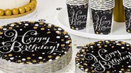 Happy birthday tema - Sølv