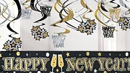 Nytårs pynt, udsmykning og dekorationer