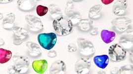 Pynte krystaller og diamanter