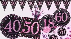Runde fødselsdage - Pink