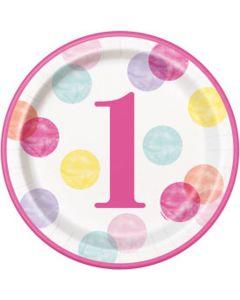 Paptallerkner til 1 års pige fødselsdag