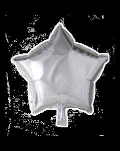 Stjerne folieballon i sølv