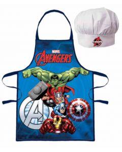 Avengers forklæde og kokkehue