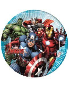 Avengers paptallerkner 8 stk.