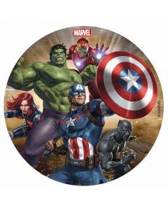Kageprint med Avengers