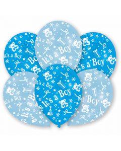 Blå babyshower balloner