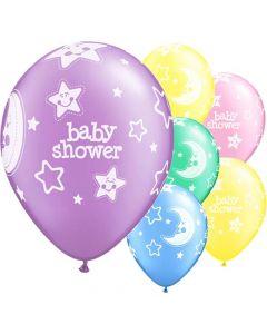 Baby shower balloner ass. 6 stk. - Neutrale pastelfarver