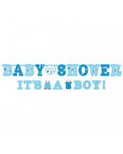Baby shower banner 2 dele - Dreng