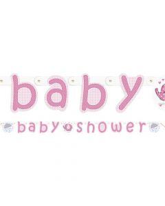 Baby shower banner 1,6 m. - Umbrellaphants - Pige