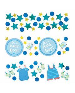 Baby shower konfetti 34 g. - Pap og metal folie - Dreng