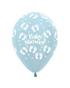 Baby shower ballon 1 stk. - Lyseblå