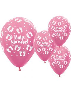 Baby shower balloner 25 stk. - Lyserøde