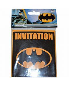 TILBUD - Batman indbydelser 6 stk.