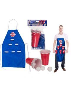 Beer Pong med forklæde