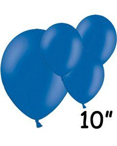 """Blå balloner 10"""" - 100 stk."""