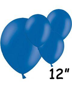 """Blå balloner 12"""" - 100 stk."""