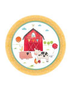 Kagetallerkner med bondegårds tema