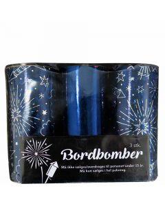 Mørkeblå bordbomber