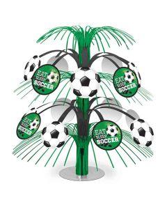Borddekoration med fodbolde
