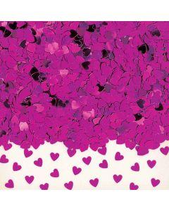 Små konfetti hjerter i cerise