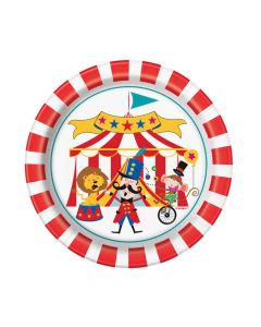 Kagetallerkner med cirkustema