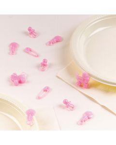 Deko konfetti til dåb eller baby shower 25 stk. Pige