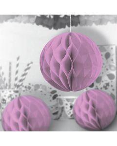 Lyserøde honeycomb dekorationskugler 10 cm. 3 stk.
