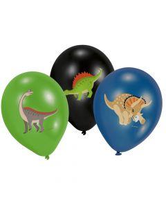 Dinosaur balloner med farveprint