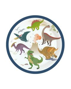 Kagetallerkner med dinosaurer
