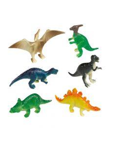 Små dinosaur figurer i plast