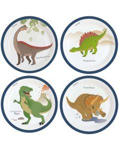Paptallerkner med dinosaurer