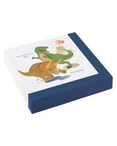 Servietter med dinosaurer