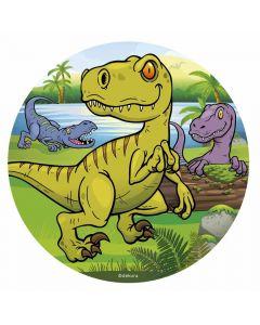 Sukkerfri kageprint med dinosaur tema