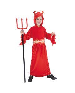 Djævle kostume i rød