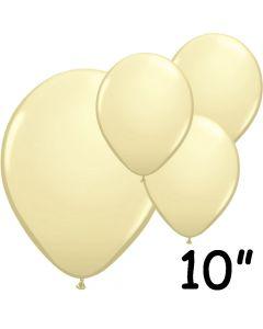 """Elfenben balloner 10"""" - 100 stk."""