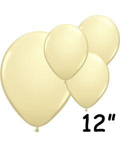 """Elfenben balloner 12"""" - 100 stk."""
