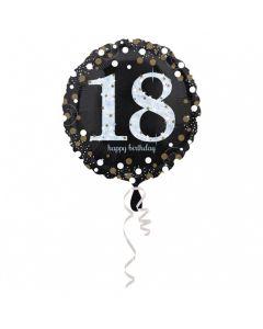 18 års fødselsdag folieballon 1 stk. - Sølv