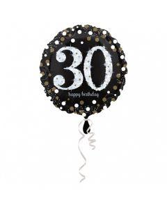 30 års fødselsdag folieballon 1 stk. - Sølv