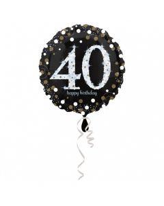 40 års fødselsdag folieballon 1 stk. - Sølv