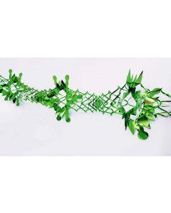 Guirlande i grøn metalfolie