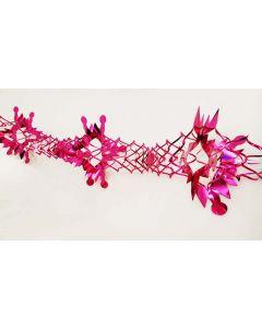 Guirlande i pink metalfolie