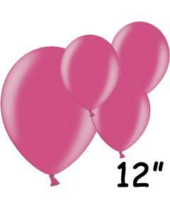 """Fuchsia balloner 12"""" - 100 stk."""