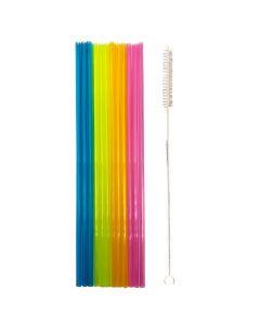 Plastik sugerør med børste