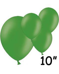 """Grønne balloner 10"""" - 100 stk."""
