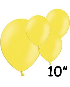 "Gule balloner 10"" - 100 stk."