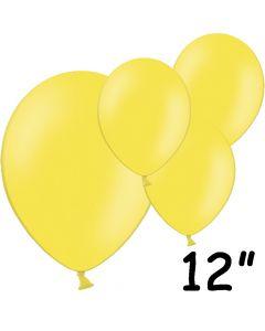 "Gule balloner 12"" - 100 stk."